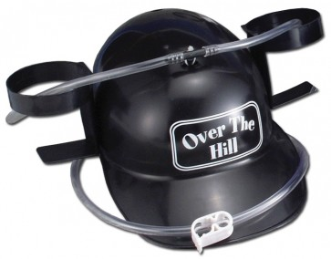 Beer Helmet : Black Over The Hill Drinking Hat