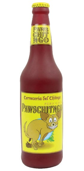 Pawschitngo Beer Squeak Dog Toy