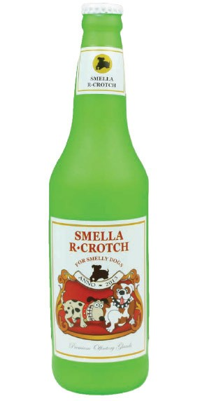 Smella R-Crotch Beer Squeak Dog Toy