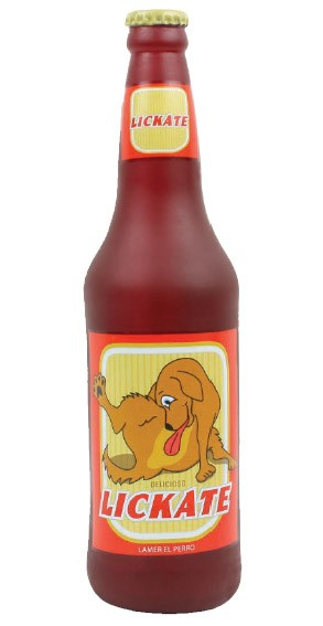 Lickate Beer Squeak Dog Toy