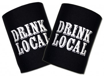 Beer Coozies : Drink Local Can Cooler Set