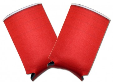 Beer Coozies : Red Cup Collapsible Coolie Set
