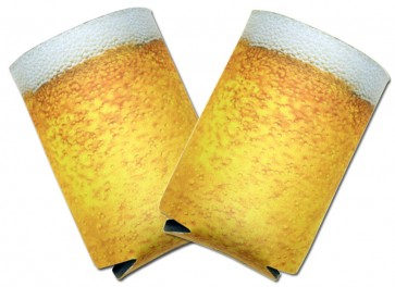 Beer Koozies : Beer Foam Collapsible Coolie Set