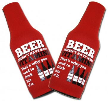 Beer Vitamins Bottle Suit Coozie Set