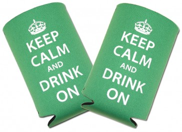 """Keep Calm Drink On"" Collapsible Coozie Set"