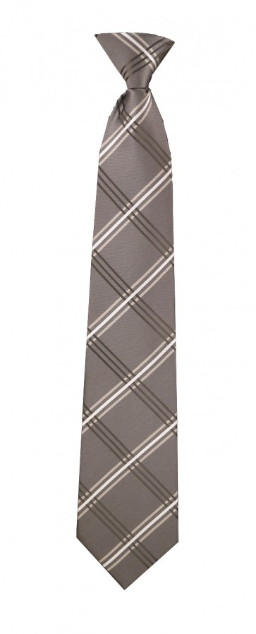 Grey & Black Plaid Flask Tie