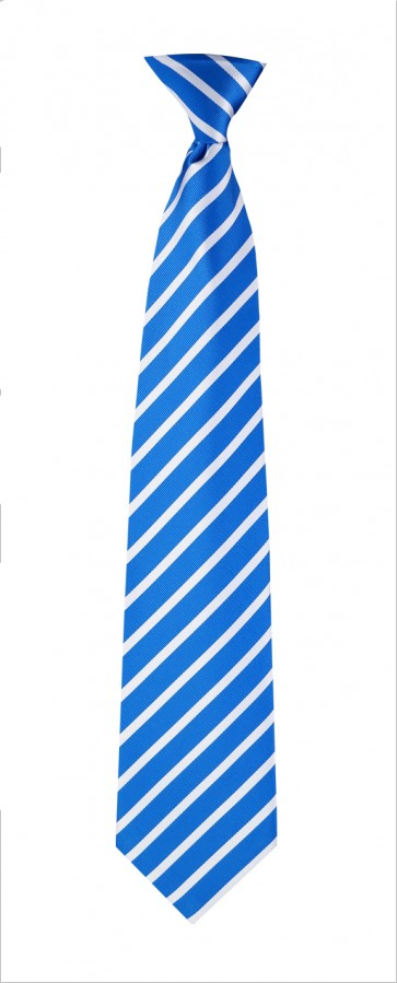 Blue & White Stripes Flask Tie