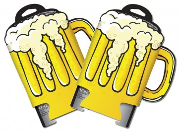 Beer Mug Collapsible Coozie Set