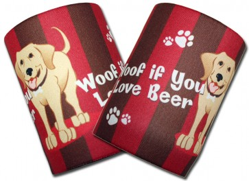 Woof If You Love Beer Can Koozie Set