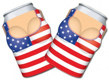 Boobzie US Flag Coozie Set