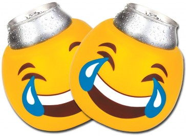 Tears of Joy Emoji Can Koozie Set