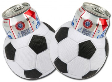 Soccer Ball Can Koozie Set
