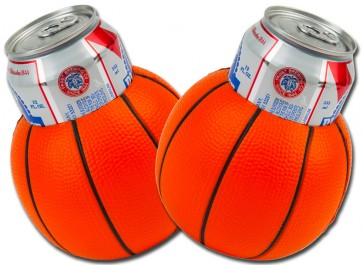 Basketball Beer Can Coozie Set