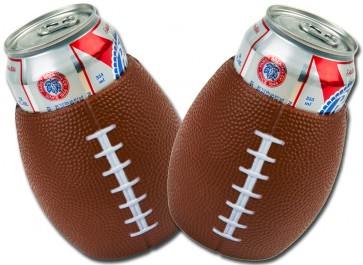 Football Beer Can Koozie Set