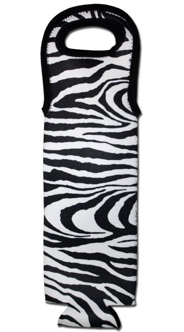 Wine Bottle Tote Zebra Cooler Bag