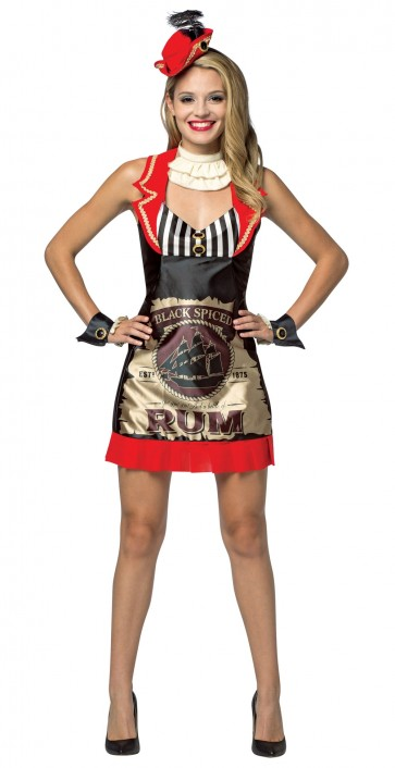 Black Spiced Rum Dress Women's Costume