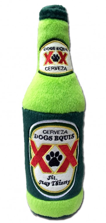 Dogs Equis XX Beer Dog Toy : Bottle Plush Squeaker