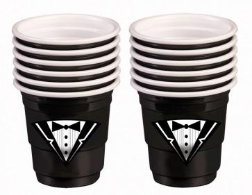 Tuxedo Black Mini Shot Cups