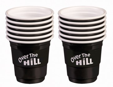 Over The Hill Black Mini Shot Cups