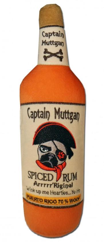 Captain Muttgan Spiced Rum Plush Dog Toy