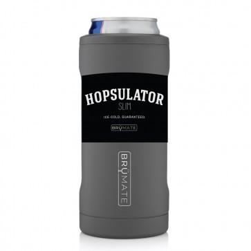 BruMate Hopsulator Slim Grey Can Coozie