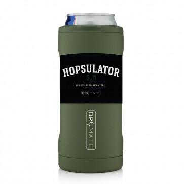 BruMate Hopsulator Slim Green Can Coozie