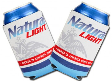 Natural Light Collapsible Beer Koozie Set