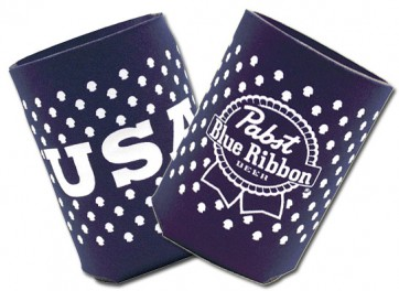 Pabst Blue Ribbon USA Collapsible Coozie Set