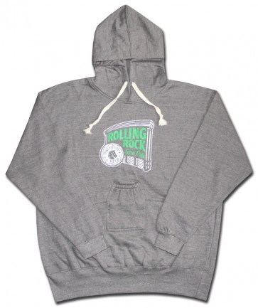 Rolling Rock Hoody : Distressed w/ Beer Pouch