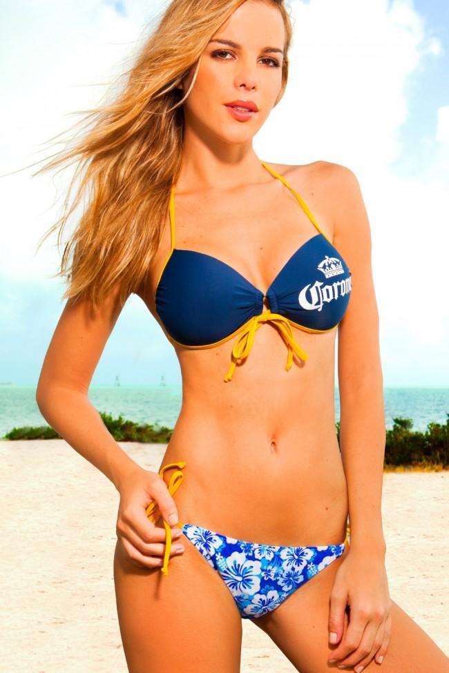 Corona Extra Floral Bikini Set Boozingear Com