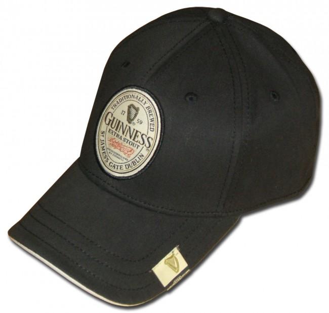 Guinness Hat Black Extra Stout Label Boozingear Com