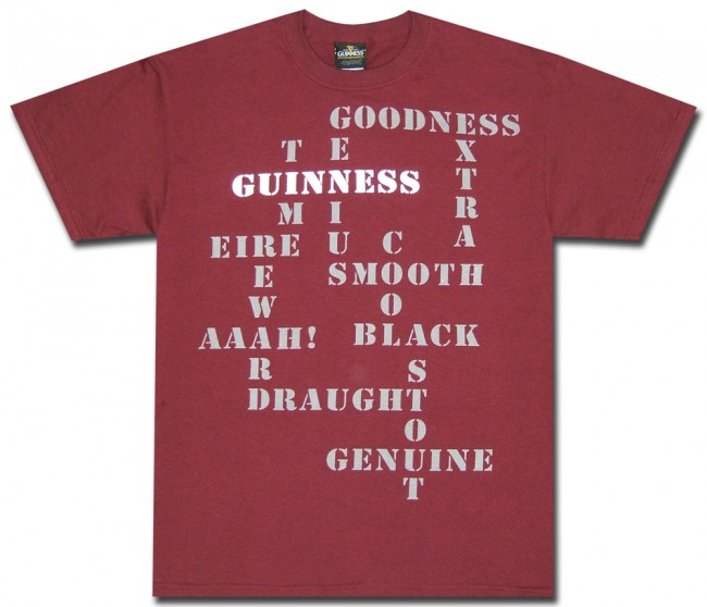 Guinness Crossword Puzzle T Shirt