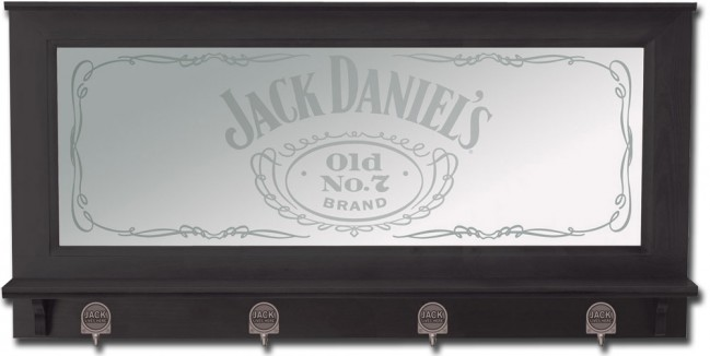 Jack Daniel S Old No 7 Bar Mirror W Pewter Hooks