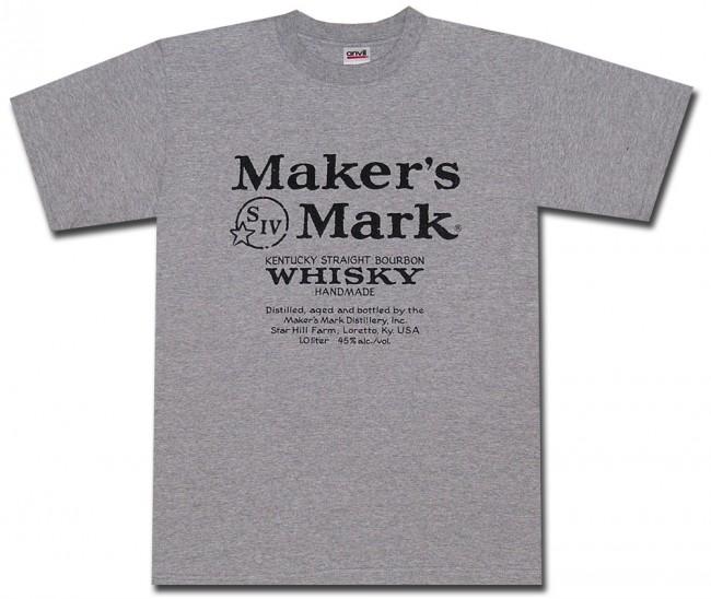 maker 39 s mark classic label grey t shirt