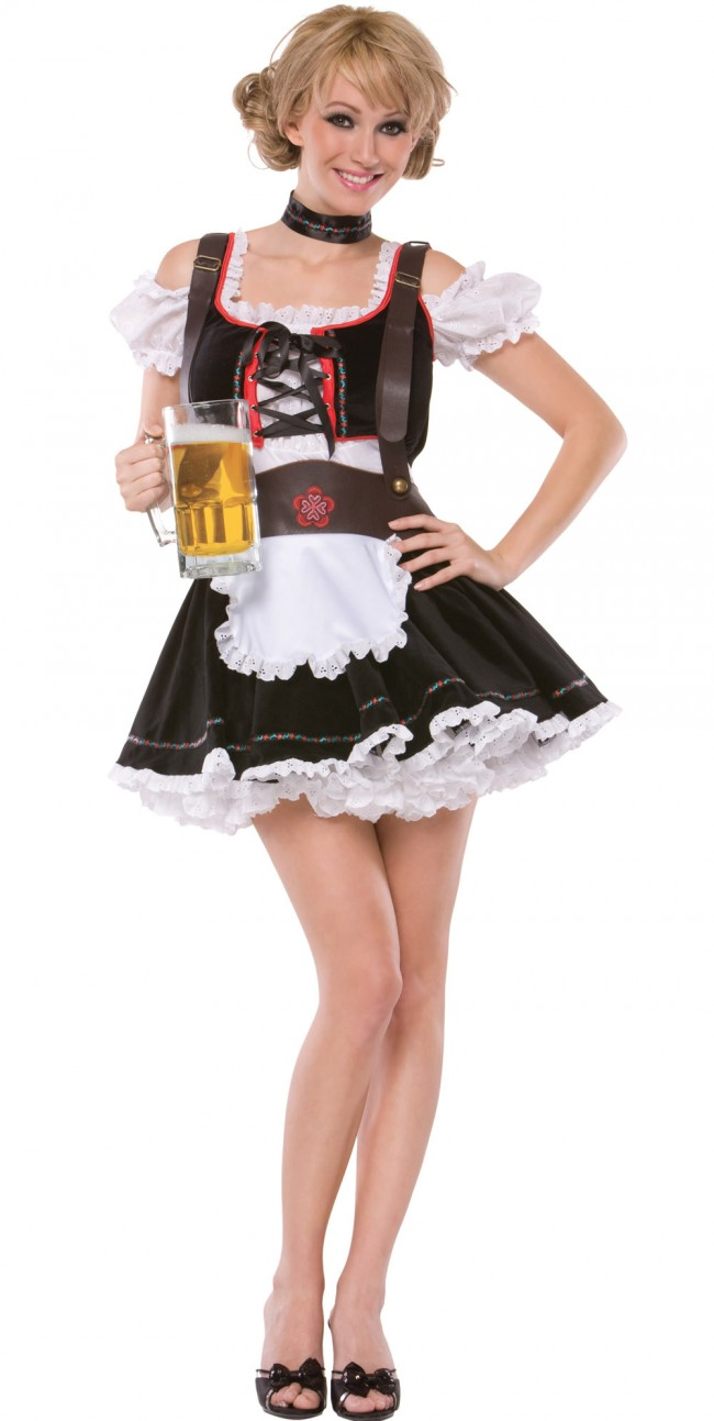 Beer Maiden Costume Brown Amp Brugandy Fun Beer Costume