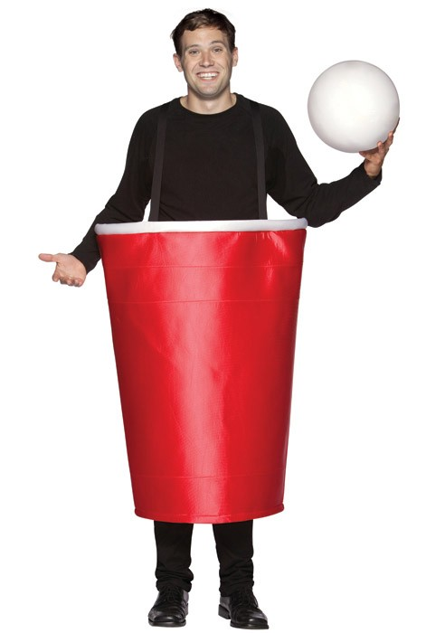 Beer Pong Costume Life Sized Red Solo Cup Fun Beer Costume