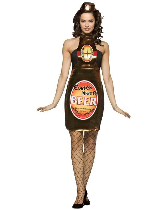 Beer Bottle Costume Golden Nights Women S Dress Fun