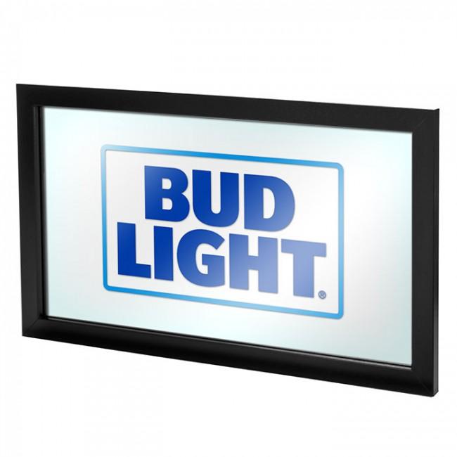 Bud Light Square Logo Bar Mirror