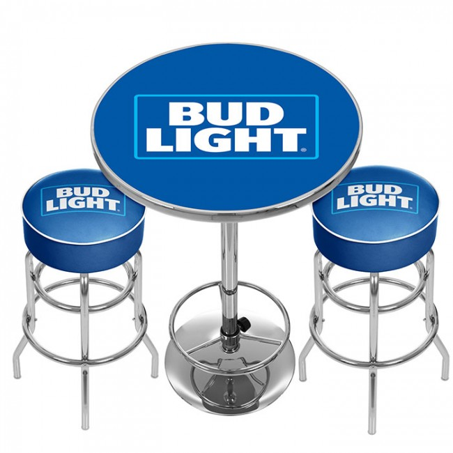 Bud light pub combo bar stools table officially licensed bud bud light pub combo bar stools table watchthetrailerfo