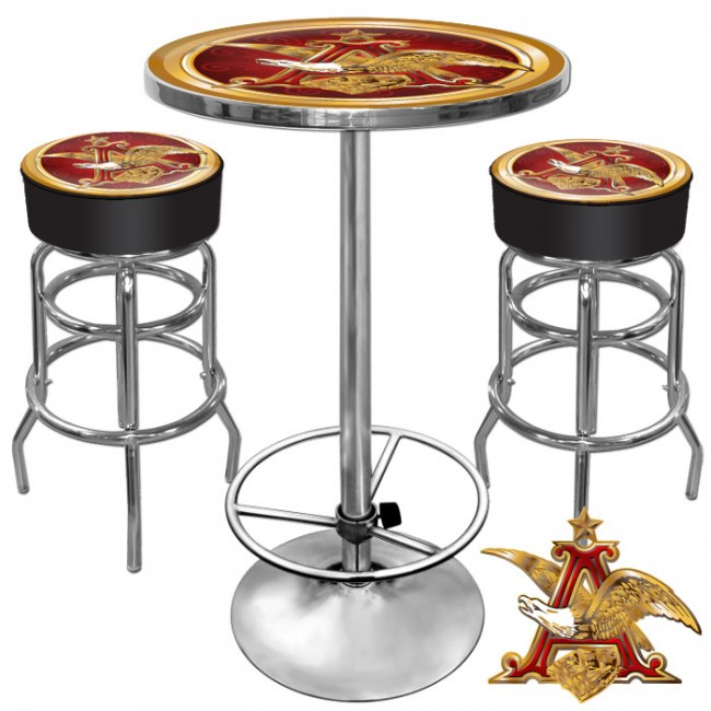 Anheuser Busch Eagle Bar Stools Table Set