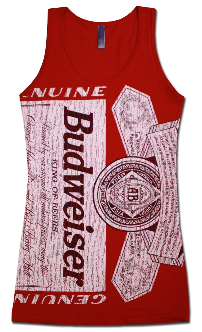Budweiser Can Label Women S Tank Top