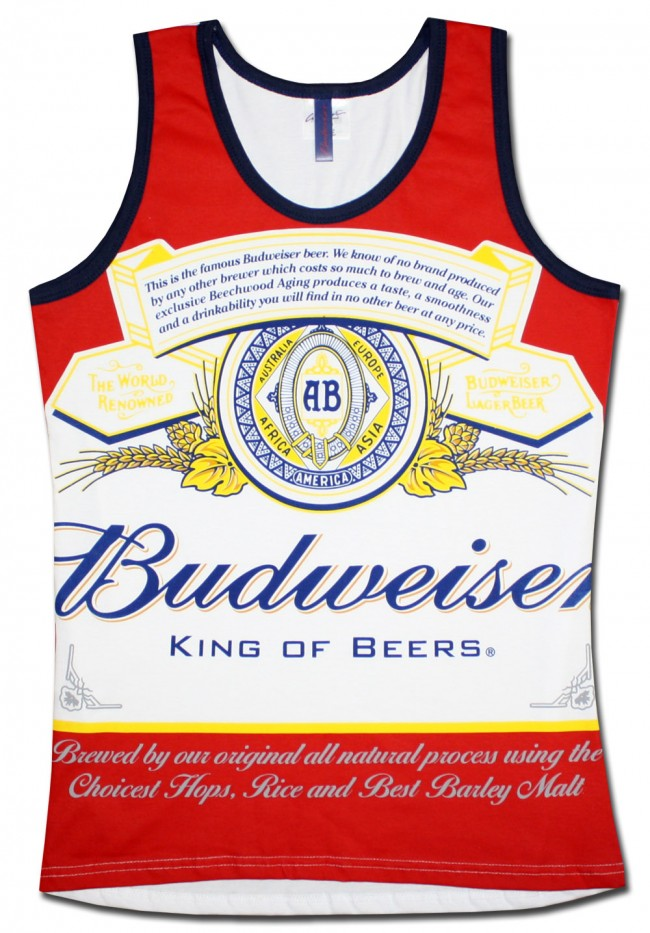 Budweiser Label Men S Tank Top Boozingear Com