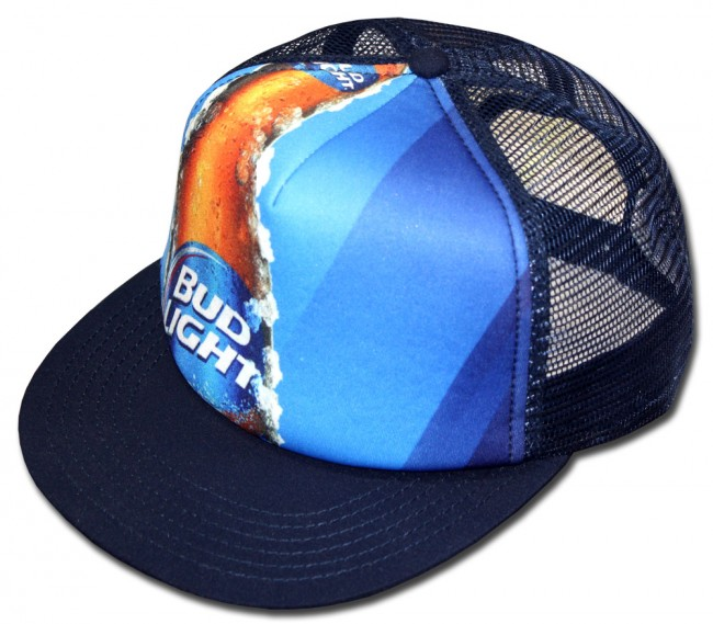 Bud Light Sublimated Trucker Hat Boozingear Com