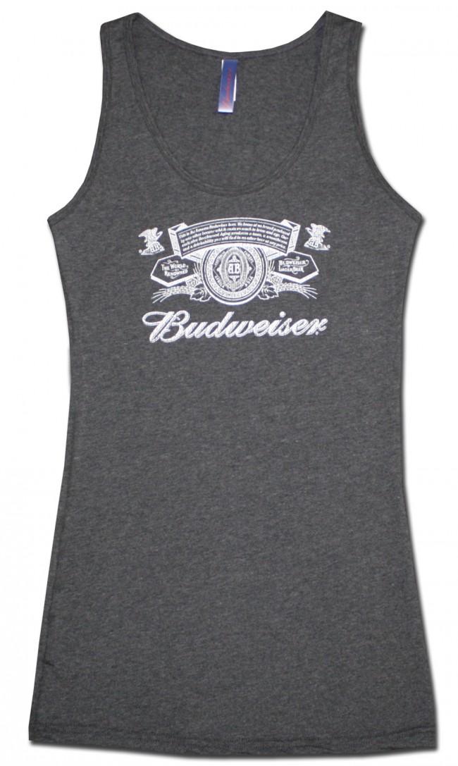 Budweiser Women S Grey Tank Top Boozingear Com
