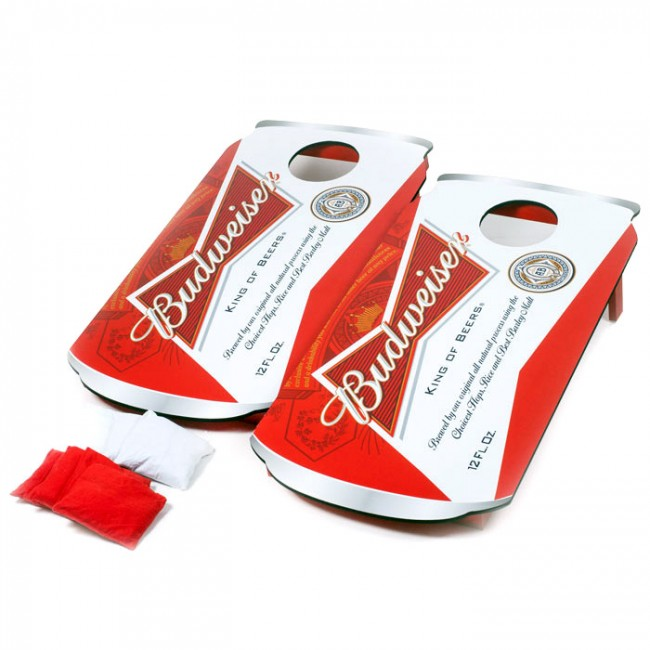 Budweiser Cornhole Beer Can Board Set Boozingear Com