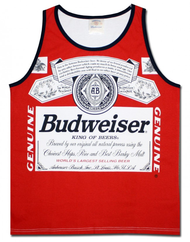 6d2739c2c45ae9 ... Beer Tank Tops  Budweiser Classic Men s Tank Top. Front