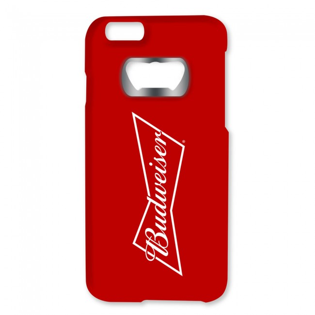 budweiser bowtie iphone 6 6s bottle opener case. Black Bedroom Furniture Sets. Home Design Ideas