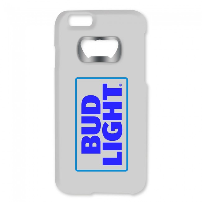 bud light white iphone 6 6s bottle opener case. Black Bedroom Furniture Sets. Home Design Ideas