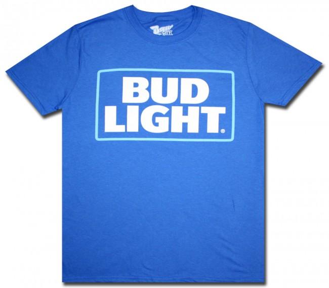 Royal Blue Bud Light T Shirt Boozingear Com