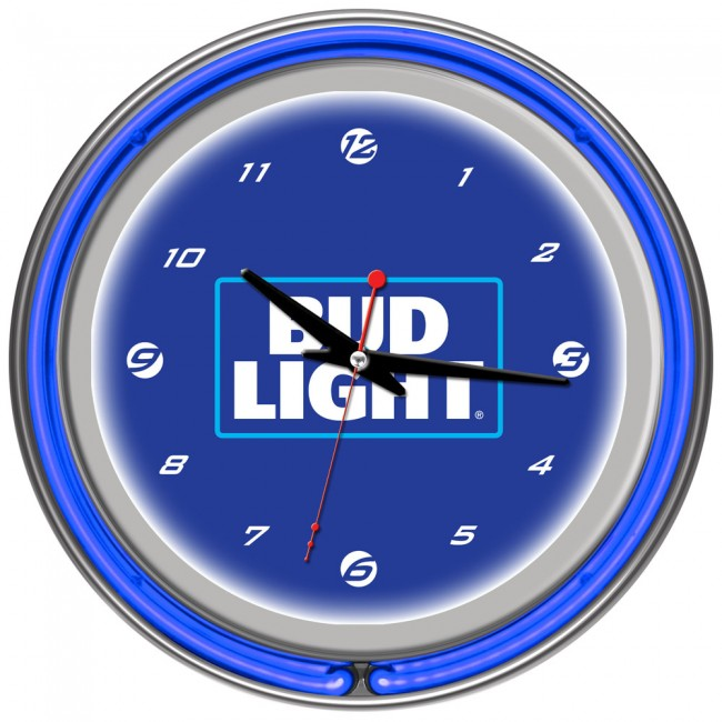 Bud Light Royal Blue Neon Clock 14 Quot Officially